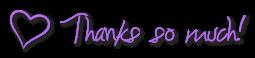 Thanks so much - heart - purple FREESTUFF