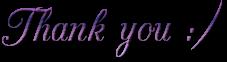 Thank you ~ purple ~ FREESTUFF
