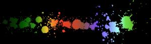 Colorful paint splatter Border Divider FREESTUFF