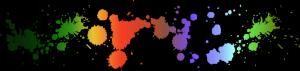 Colorful paint splatter Border Divider FREESTUFF by AStoKo