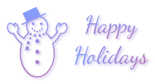 Happy Holidays with snowman 2 - FREESTUFF