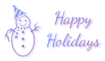 Happy Holidays with snowman 1 - FREESTUFF