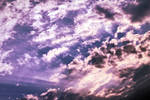 Sky pouple sunrays by AStoKo