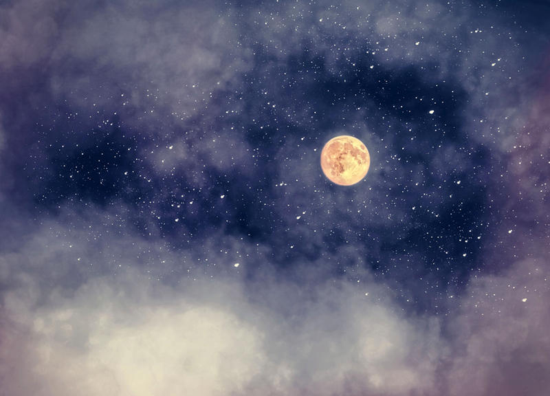 Nightsky moon a S T O C K by AStoKo