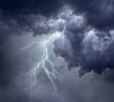 Lightning and dark stormy clouds by AStoKo