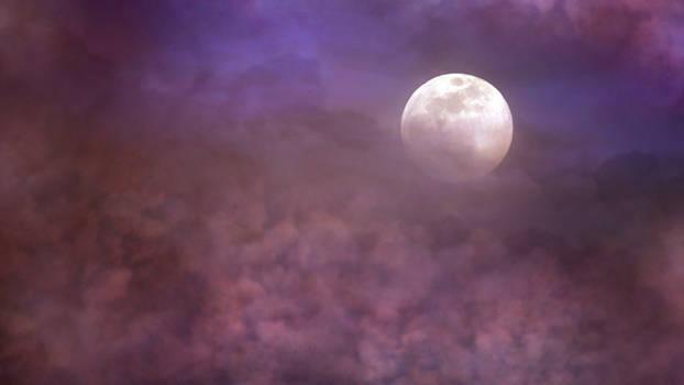 Moonlight clouds stock 3