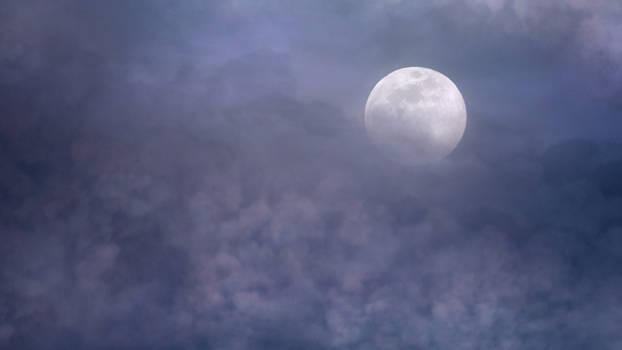 Moonlight clouds stock 1