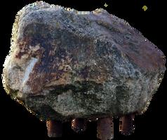 Stone Rock on metal feet rods STOCK by AStoKo