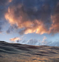 Waterscape Waves Sky Clouds STOCK