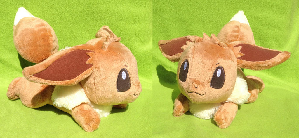 Big Eevee Plushie!! :D by kovuification