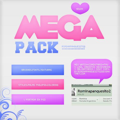 MEGA PACK. by Romina-panquesito
