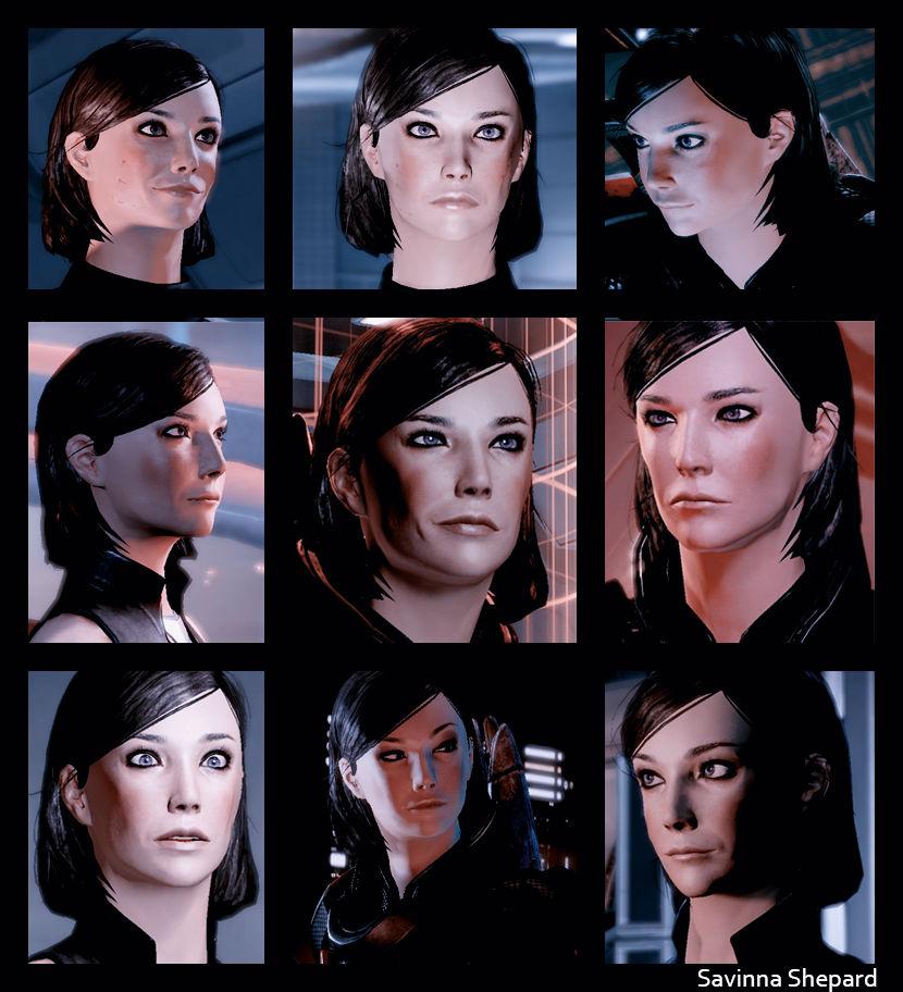Commander Shepard S Faces By Savinnah On Deviantart