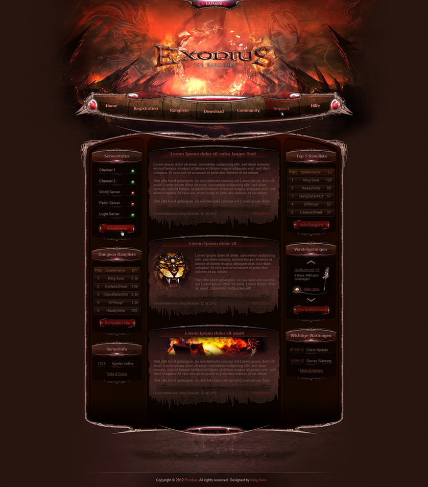Exodius Webdesign by King--Sora