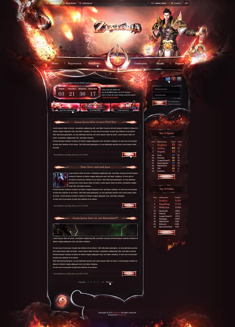 Zentoria - Webdesign by King--Sora