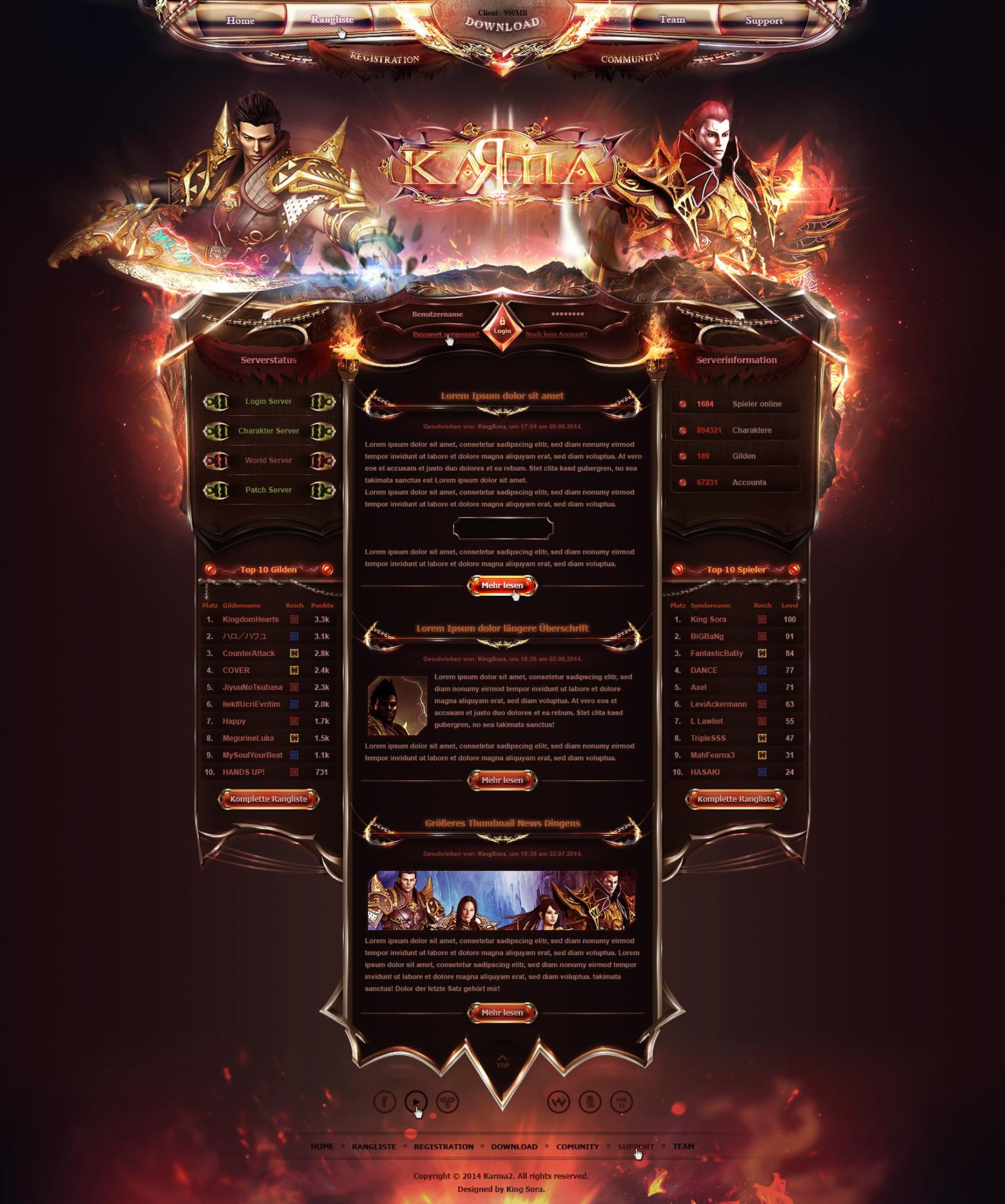Webdesign By King--Sora On DeviantArt