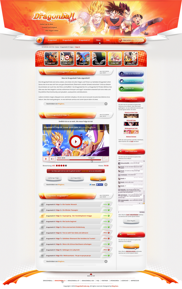 Dragonball-Tube - Webdesign by King--Sora