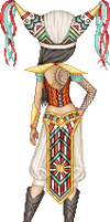 Aztec Cowboy Mage Warrior...Lady