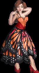 Monarch Butterfly Dress by Crazy-Lola