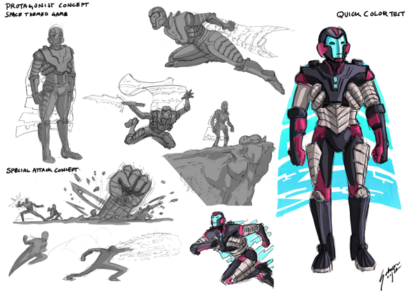 Game Character Concept Design : Game character concept design by genbaku on deviantart