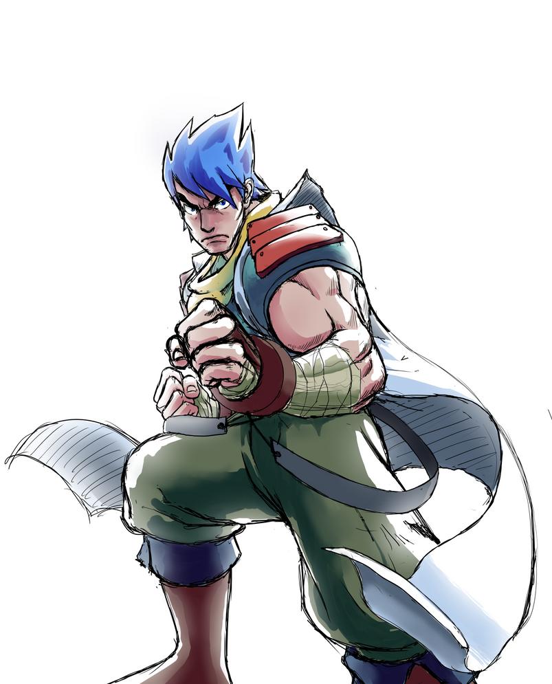 Ryu dressed as Ryu by Genbaku