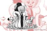 Teddy Tuesday#68: Cruella de Vil by Drawbin