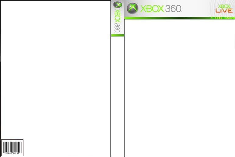 Xbox 360 front and back cover by wolfdragongod on deviantart for Video game cover template