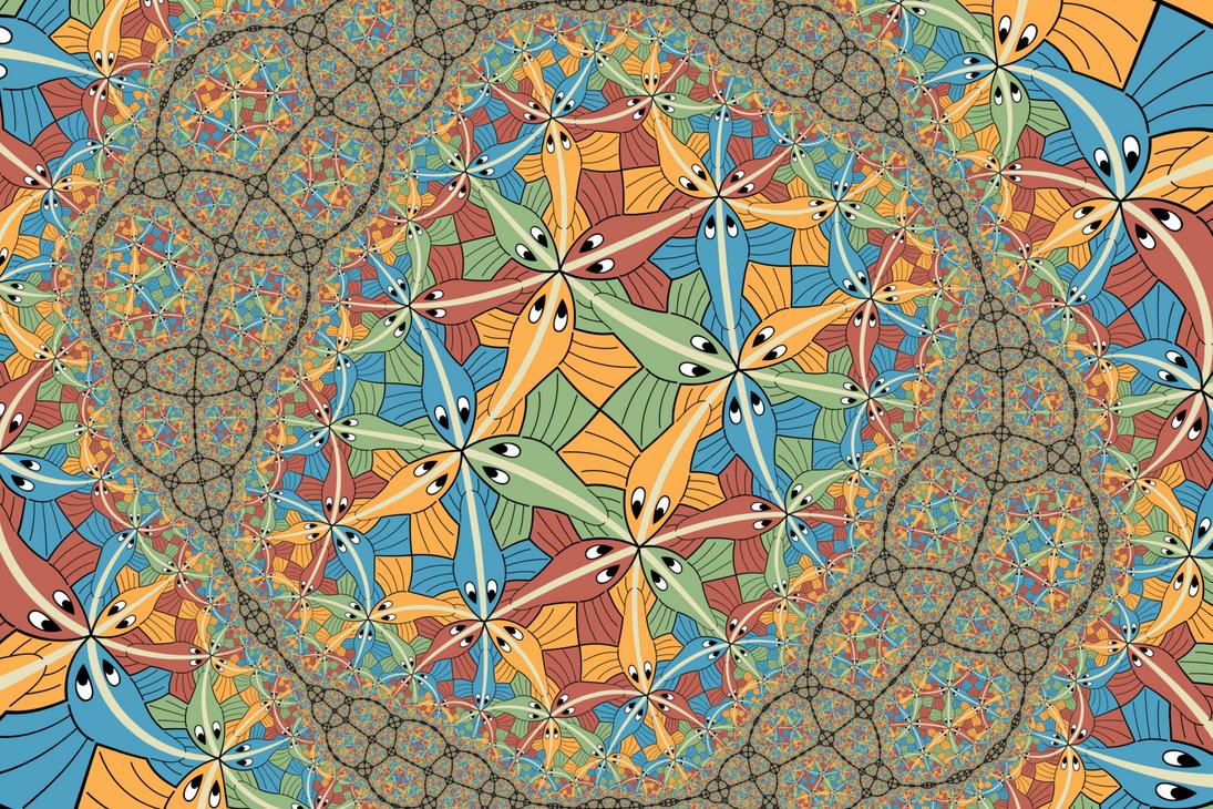 Fractal Circle Circle limit iii in a fractal