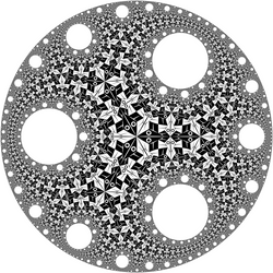 Circle Limit I with circular holes