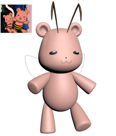 Kumahachi (BearBee) 3D by ine-rocks
