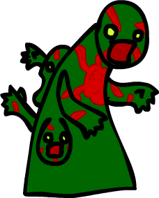 Mutant Zombie by DivineSpriter