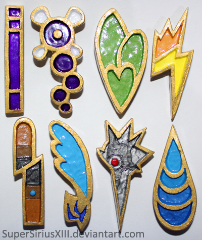 Unova League badges 2.0 by SuperSiriusXIII