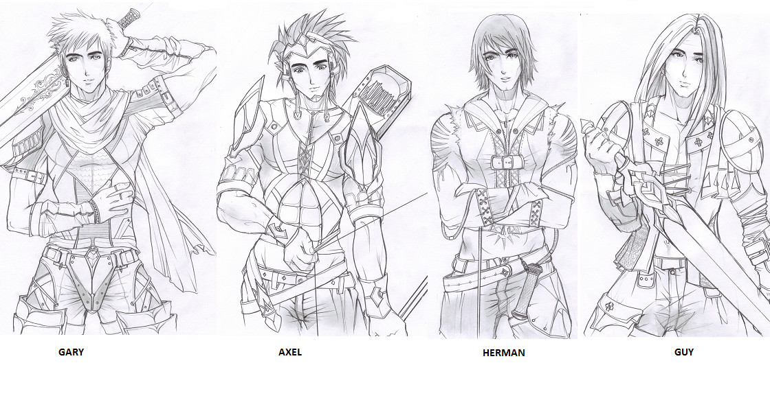 Male Warrior 2nd Sketch 1 By Izmer