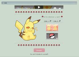 Pikachu Donation Box Code [F2U] by Kitteh-CodeAccount