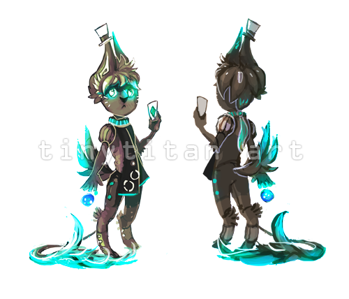 Adoptable for sale! -Teal- by Spirited-Violet