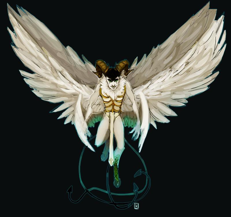 Commission- Lucifer by Spirited-Violet