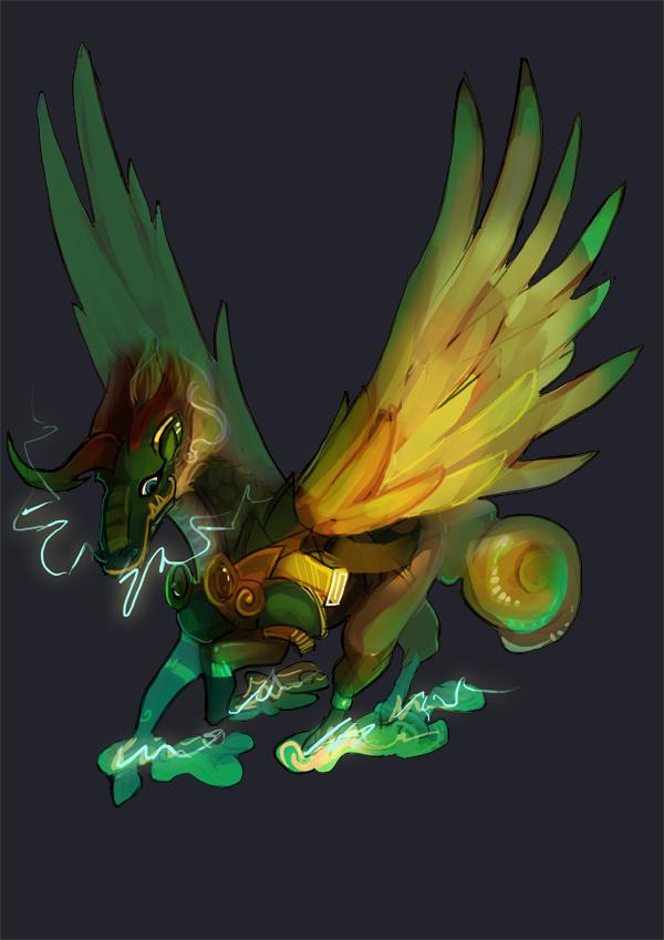 Commission- NightingaleDuck by Spirited-Violet
