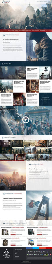 Assassin's Creed Unity Website ReDesign