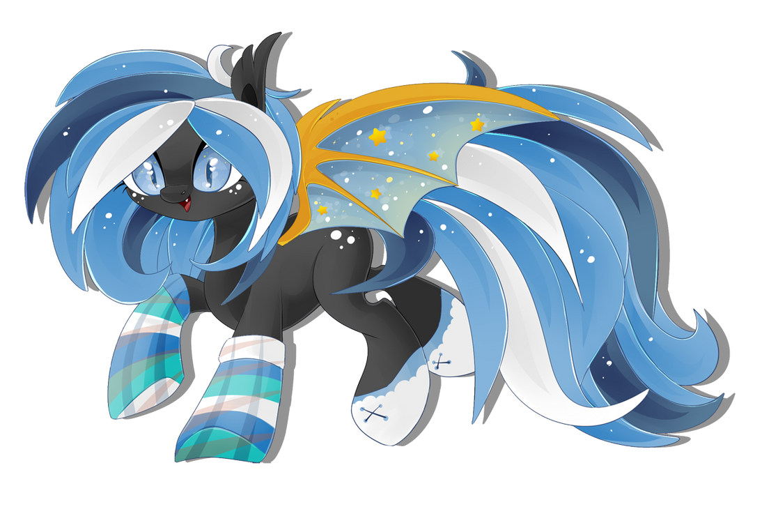 Starry bat pony [AUCTION] points/paypal [CLOSED] by BlackFreya