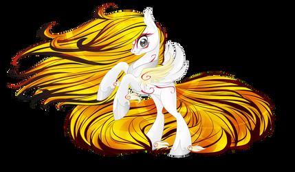 Custom: Nine-tailed kitsune pony by BlackFreya