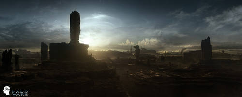 Halo Wars  shield world Matte by JJasso