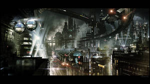 Futuristic City by JJasso