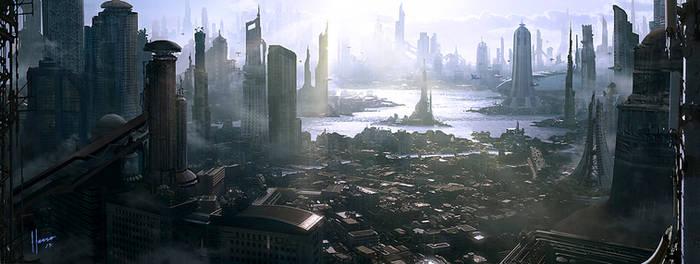 SCIFI city concept