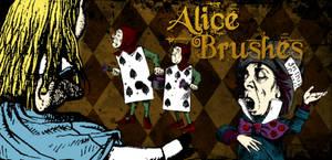 Alice in Wonderland Brushes by arsgrafik
