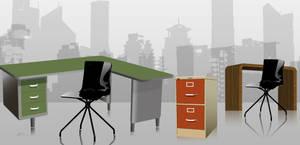 Vector Office Furniture by arsgrafik