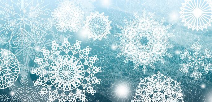 Snowflake Brushes by arsgrafik