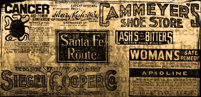 Vintage News Ad Brushes