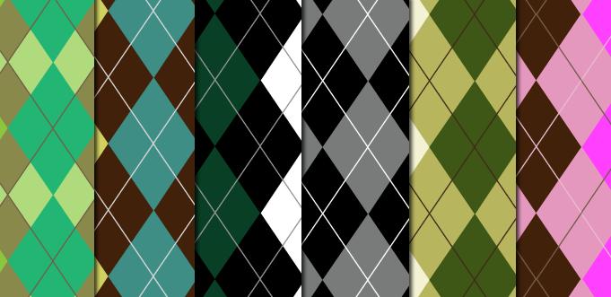 Argyle Pattern Set by arsgrafik