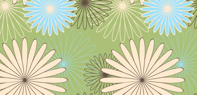 Vintage Vector Flower Pattern