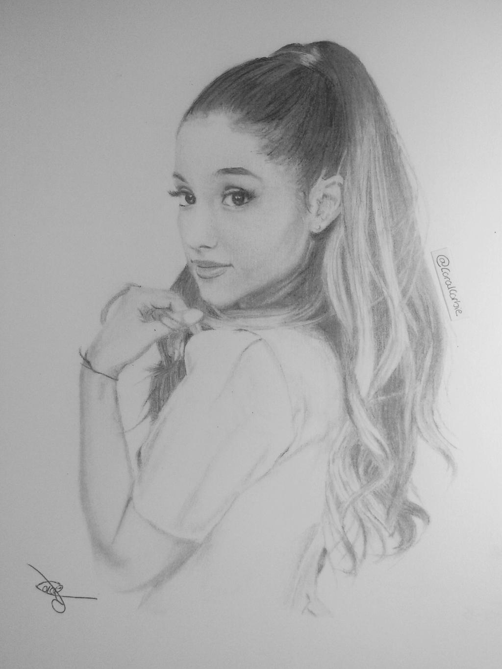 Ariana Grande Drawing By CoralCorbie On DeviantArt