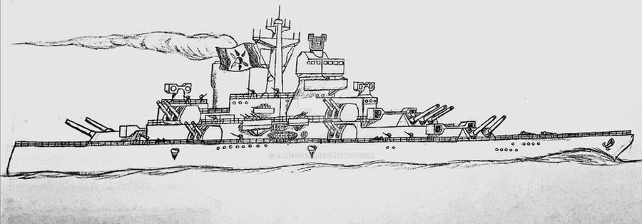 Avorian King Joseph class battleship  by jamezguns